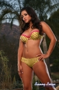 Yellow With Pink Polka Dot Bikini picture 14