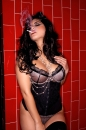 Red Tile Sink Black Corset picture 15