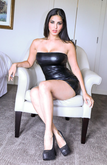 Glamour - Sunny Leone in White Lounge Chair Picture